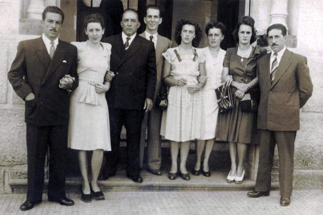 Liberino Bellei, Maria de Lourdes, Dante Bellei, Adriano Sterci, Neide Brega, Ermelinda Bellei (Lolota), Maria das Dores (Dodora), Milton Bellei