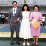 Maurilio Bellei Bastos, Odette Bastos, Geny Maria Valle - formatura Odette - 1986
